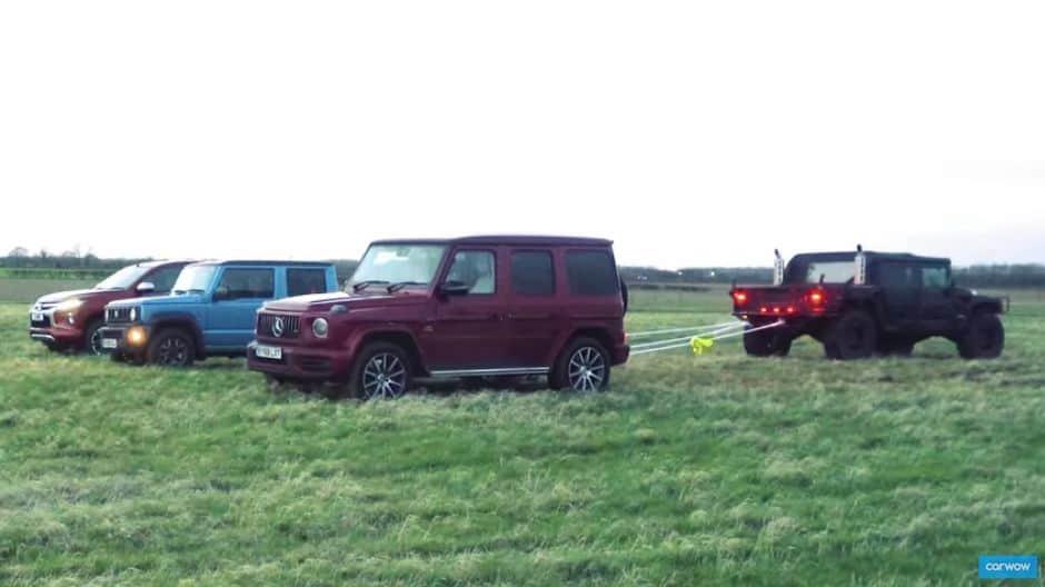 Nije sve u konjima: Mercedesu G63 u dvoboju protiv Hummera nisu pomogli ni Jimny i L200