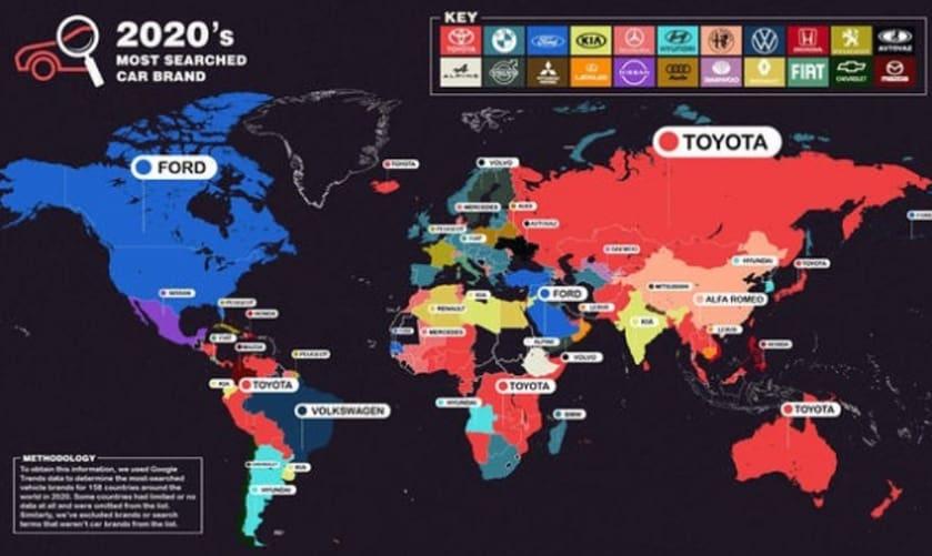 Toyota u 2020. najtraženiji brend na Googleu, pretekao BMW, lidera iz 2019.