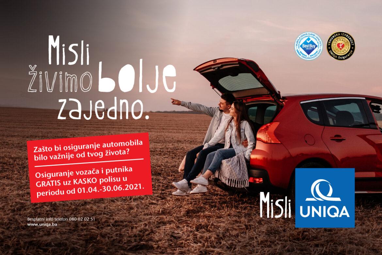 UNIQA poklanja osiguranje vozača i putnika uz KASKO